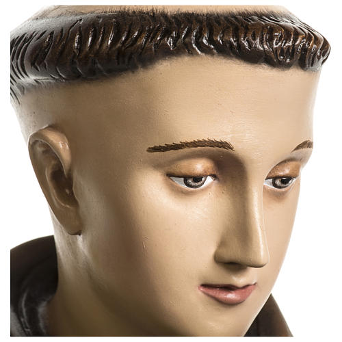 Statue of St. Anthony of Padua in coloured fibreglass 100 cm for EXTERNAL USE 2