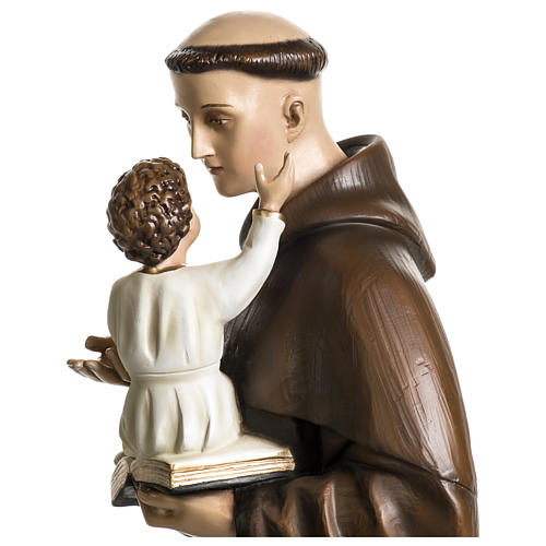 Statue of St. Anthony of Padua in coloured fibreglass 100 cm for EXTERNAL USE 3