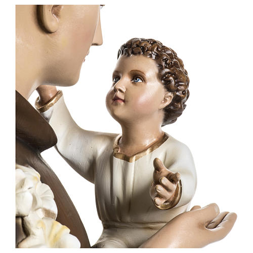 Statue of St. Anthony of Padua in coloured fibreglass 100 cm for EXTERNAL USE 8
