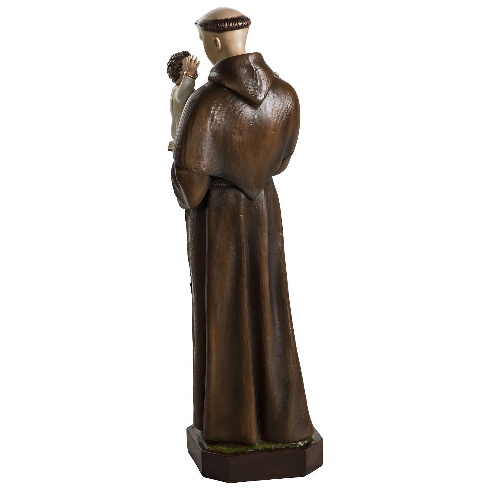 Statua Sant'Antonio da Padova 100 cm fibra di vetro colorata PER ESTERNO 4