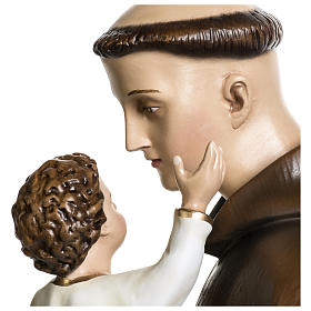 Statua Sant'Antonio da Padova 100 cm fibra di vetro colorata PER ESTERNO s4