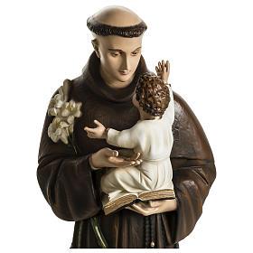 Statua Sant'Antonio da Padova 100 cm fibra di vetro colorata PER ESTERNO s6