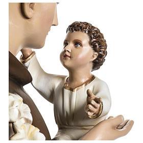 Statua Sant'Antonio da Padova 100 cm fibra di vetro colorata PER ESTERNO s8