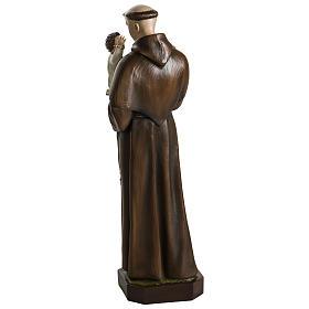 Statua Sant'Antonio da Padova 100 cm fibra di vetro colorata PER ESTERNO s12