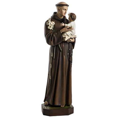 Statua Sant'Antonio da Padova 100 cm fibra di vetro colorata PER ESTERNO 1