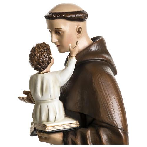 Statua Sant'Antonio da Padova 100 cm fibra di vetro colorata PER ESTERNO 3