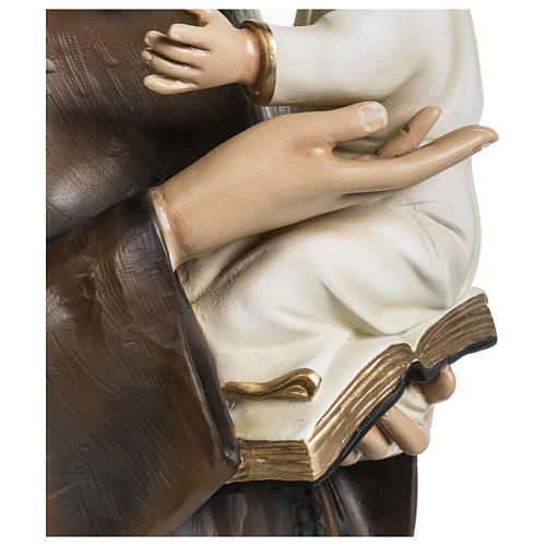 Statua Sant'Antonio da Padova 100 cm fibra di vetro colorata PER ESTERNO 9