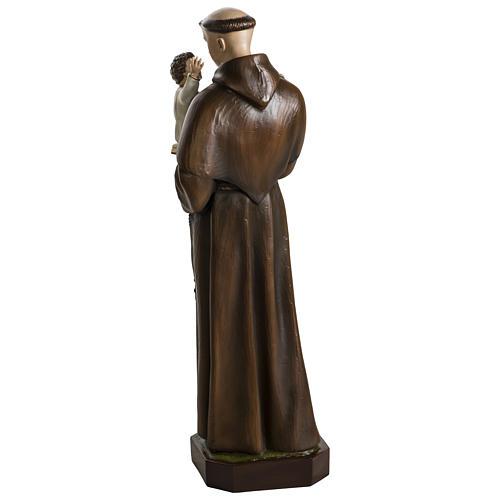 Statua Sant'Antonio da Padova 100 cm fibra di vetro colorata PER ESTERNO 12