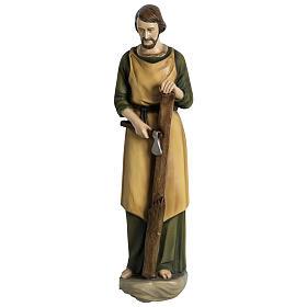 Estatua José carpintero 60 cm aplicación fibra de vidrio PARA EXTERIOR s1