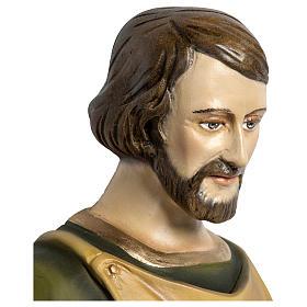 Estatua José carpintero 60 cm aplicación fibra de vidrio PARA EXTERIOR s4