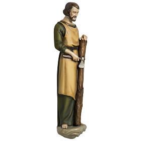 Estatua José carpintero 60 cm aplicación fibra de vidrio PARA EXTERIOR s5