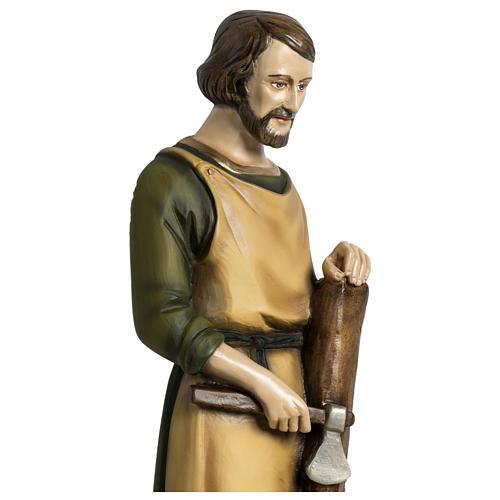 Estatua José carpintero 60 cm aplicación fibra de vidrio PARA EXTERIOR 3