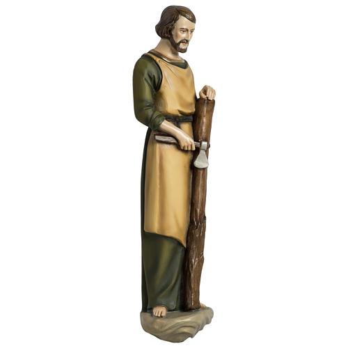 Estatua José carpintero 60 cm aplicación fibra de vidrio PARA EXTERIOR 5