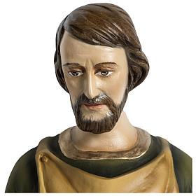 Statua Giuseppe falegname 60 cm applicazione vetroresina PER ESTERNO