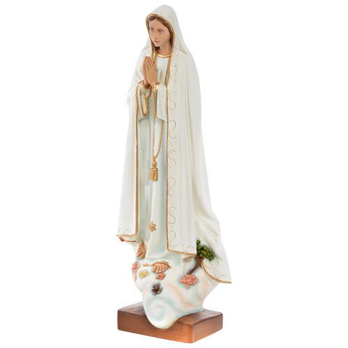 Nossa Senhora Fátima 60 cm fibra de vidro pintada PARA EXTERIOR