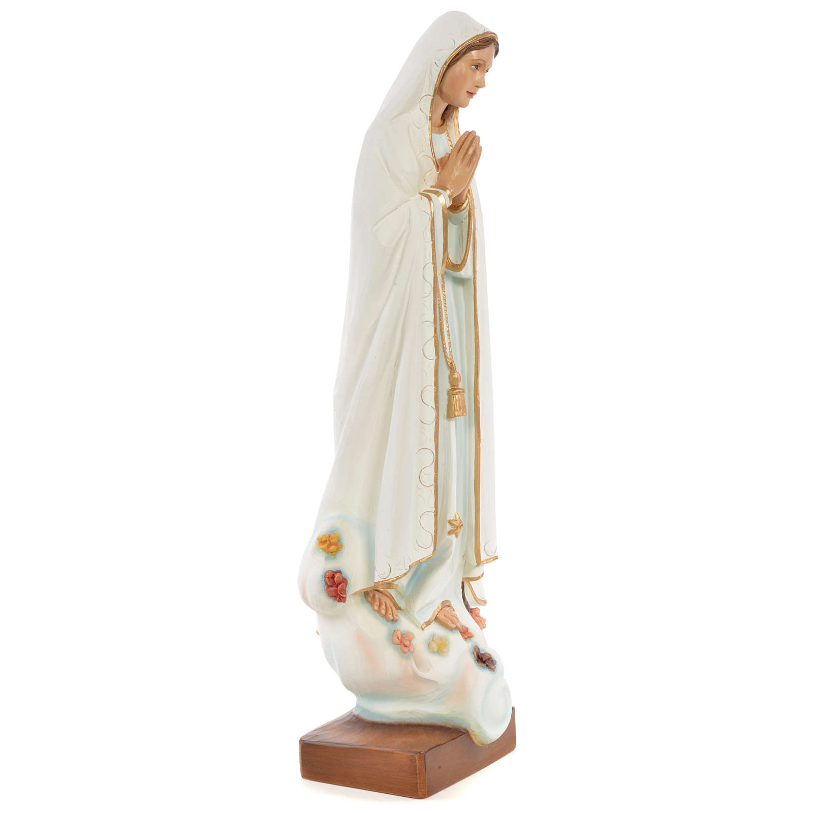 Our Lady of Fatima Statue, 60 cm in painted fiberglass FOR OUTDOORS 4