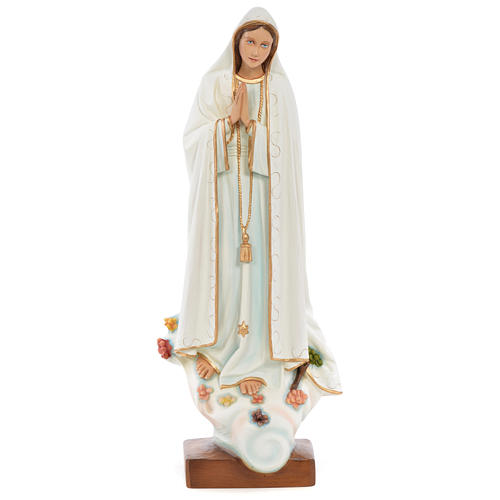 Our Lady of Fatima Statue, 60 cm in painted fiberglass FOR OUTDOORS 1