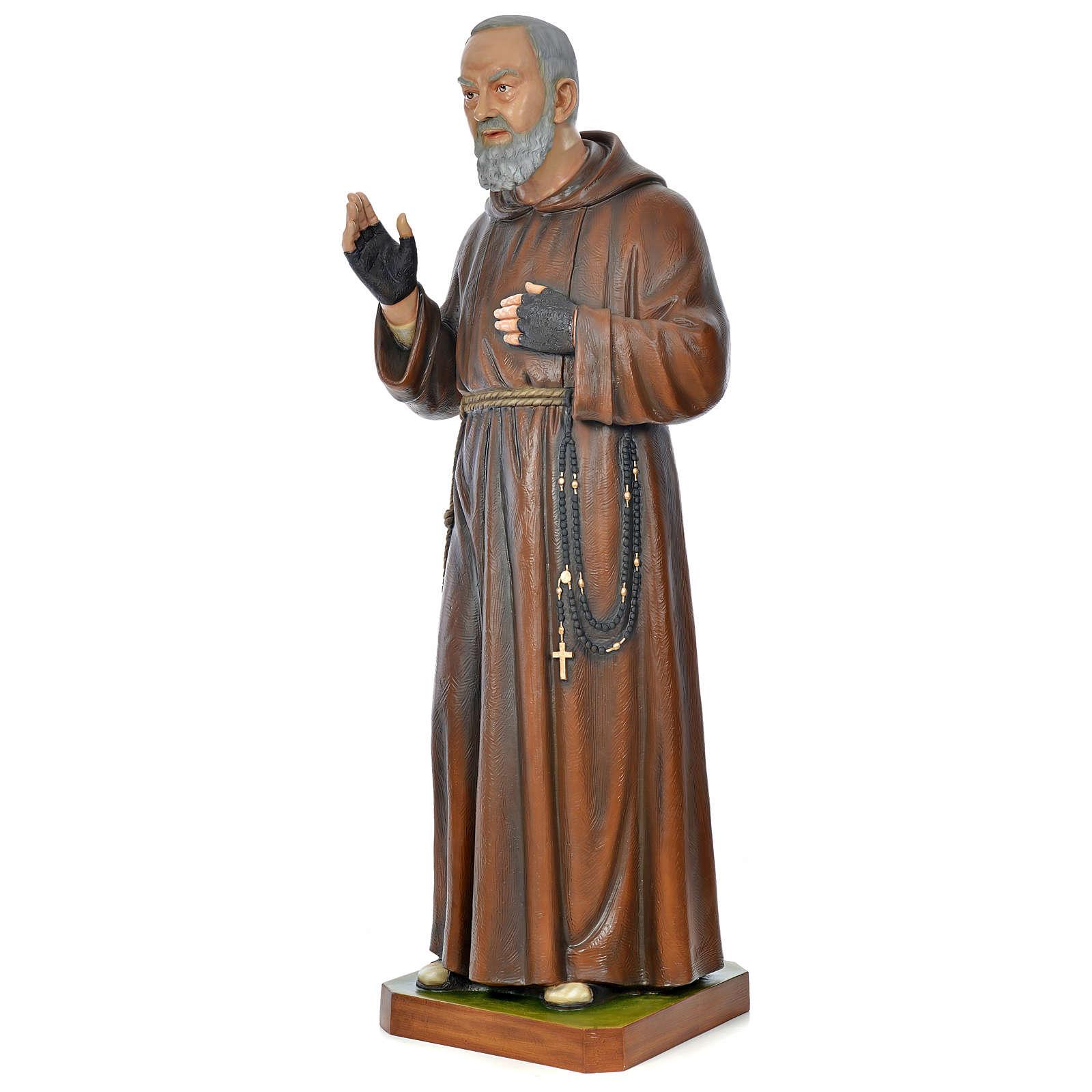 Statue Padre Pio 175 cm fibre de verre colorée POUR EXTÉRIEUR 4