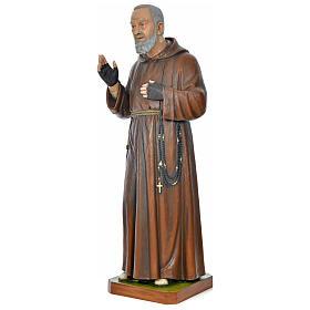 Statue Padre Pio 175 cm fibre de verre colorée POUR EXTÉRIEUR s3