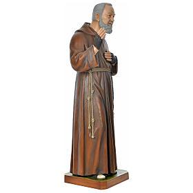 Statue Padre Pio 175 cm fibre de verre colorée POUR EXTÉRIEUR s5