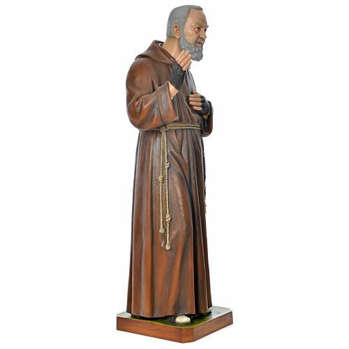 Statue Padre Pio 175 cm fibre de verre colorée POUR EXTÉRIEUR 5