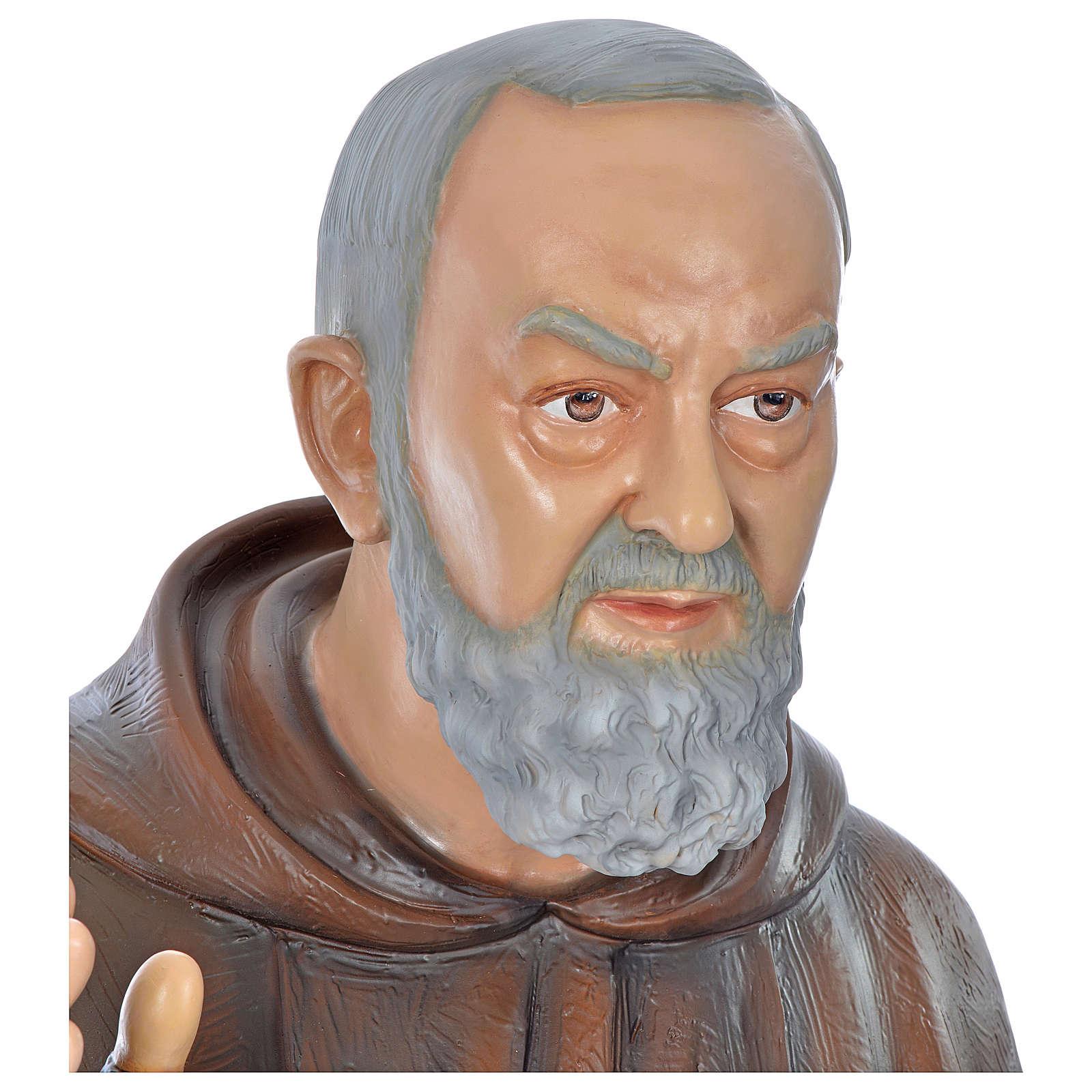 Statua San Pio 175 cm vetroresina colorata PER ESTERNO 4