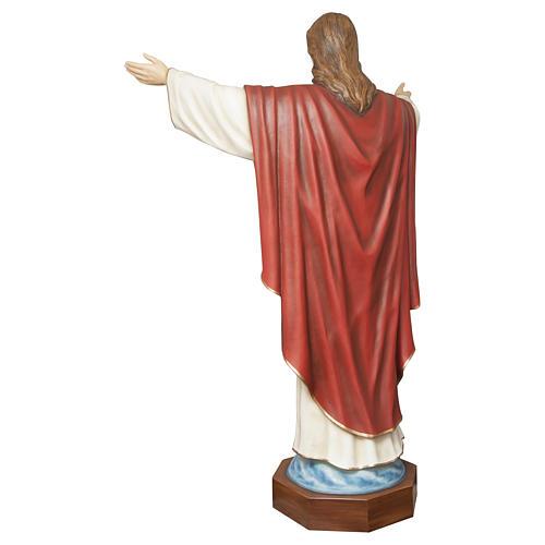 Estatua Cristo Redentor 200 cm fibra de vidrio PARA EXTERIOR 10