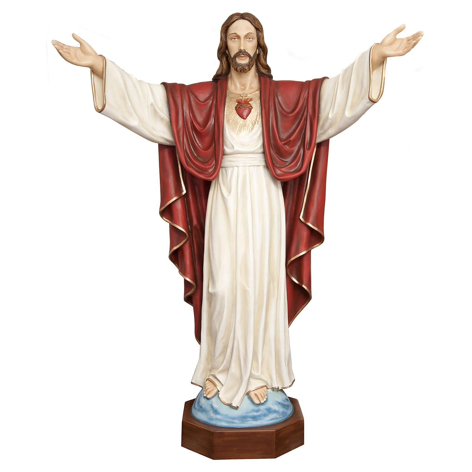 Statua Cristo Redentore 200 cm vetroresina PER ESTERNO 4