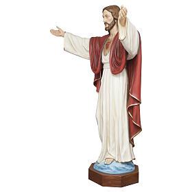 Statua Cristo Redentore 200 cm vetroresina PER ESTERNO s3