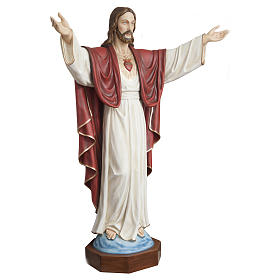 Statua Cristo Redentore 200 cm vetroresina PER ESTERNO s6