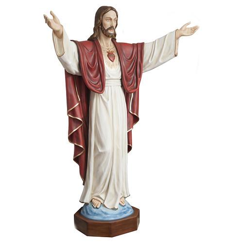 Statua Cristo Redentore 200 cm vetroresina PER ESTERNO 6
