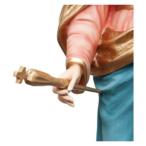 Statua Madonna Ausiliatrice 120 cm vetroresina dipinta PER ESTERNO 6