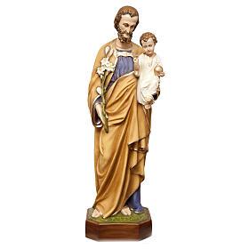 Statua San Giuseppe con bimbo 130 cm vetroresina dipinta PER ESTERNO