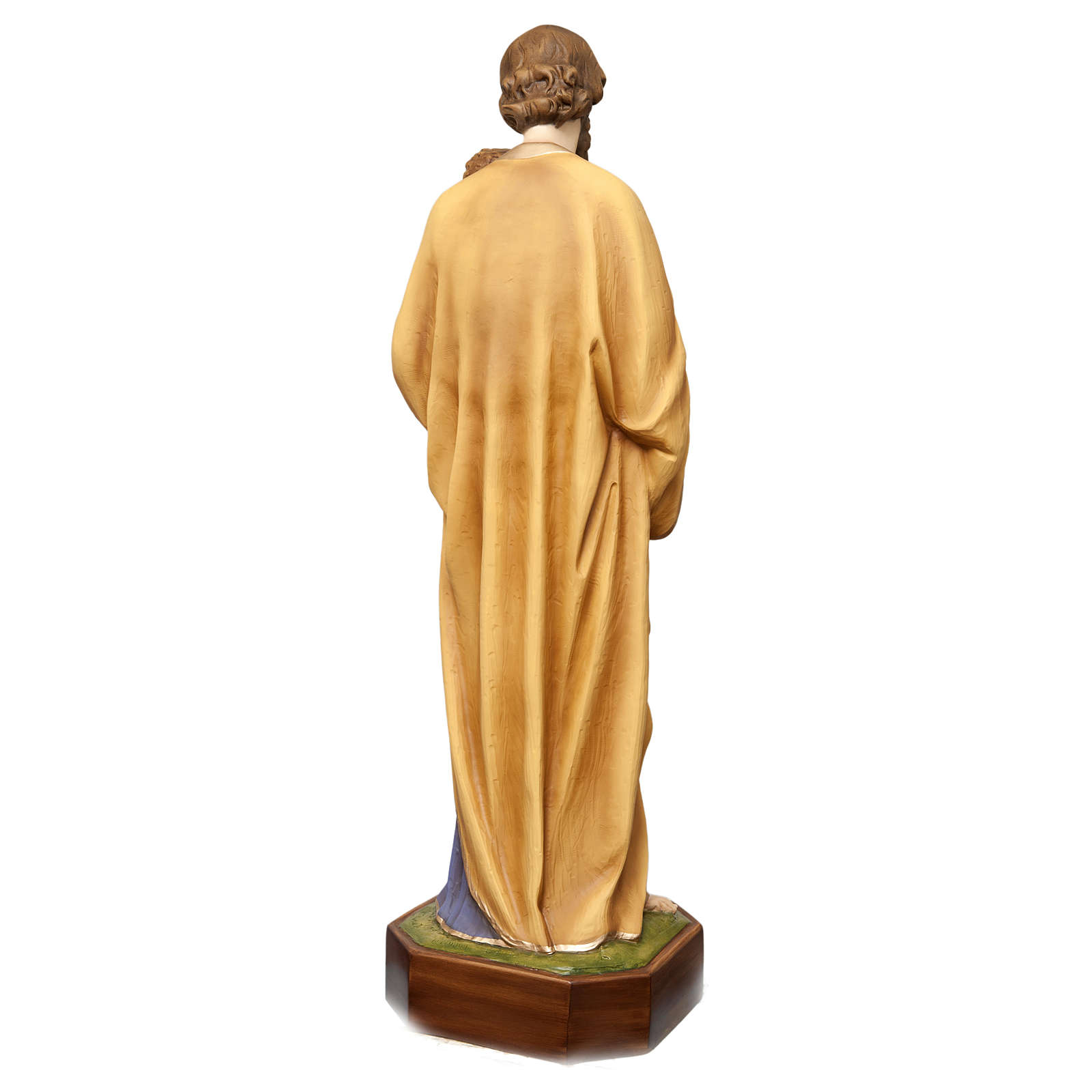 Saint Joseph with Child Jesus Statue, 130 cm in painted fiberglass, FOR OUTDOORS 4