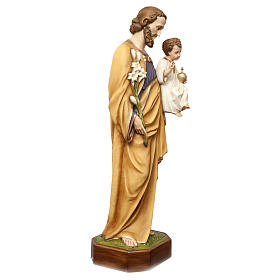 Saint Joseph with Child Jesus Statue, 130 cm in painted fiberglass, FOR OUTDOORS s5