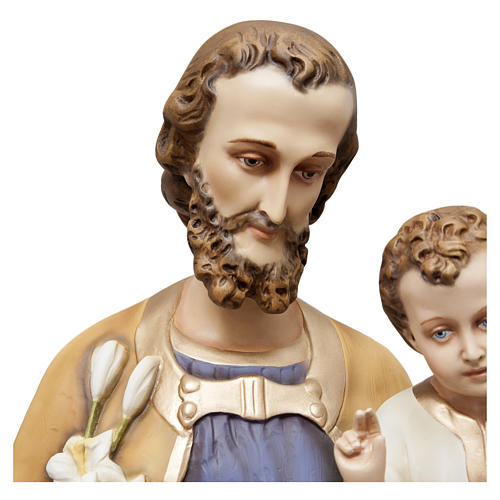Saint Joseph with Child Jesus Statue, 130 cm in painted fiberglass, FOR OUTDOORS 2