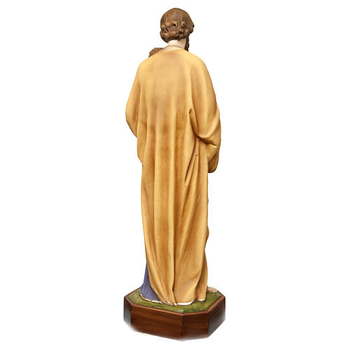 Saint Joseph with Child Jesus Statue, 130 cm in painted fiberglass, FOR OUTDOORS 7