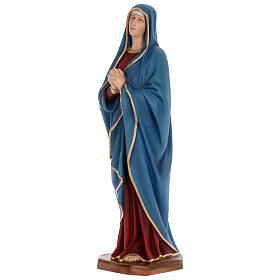 Statue of Our Lady of Sorrows in painted fibreglass 100 cm for EXTERNAL USE s2