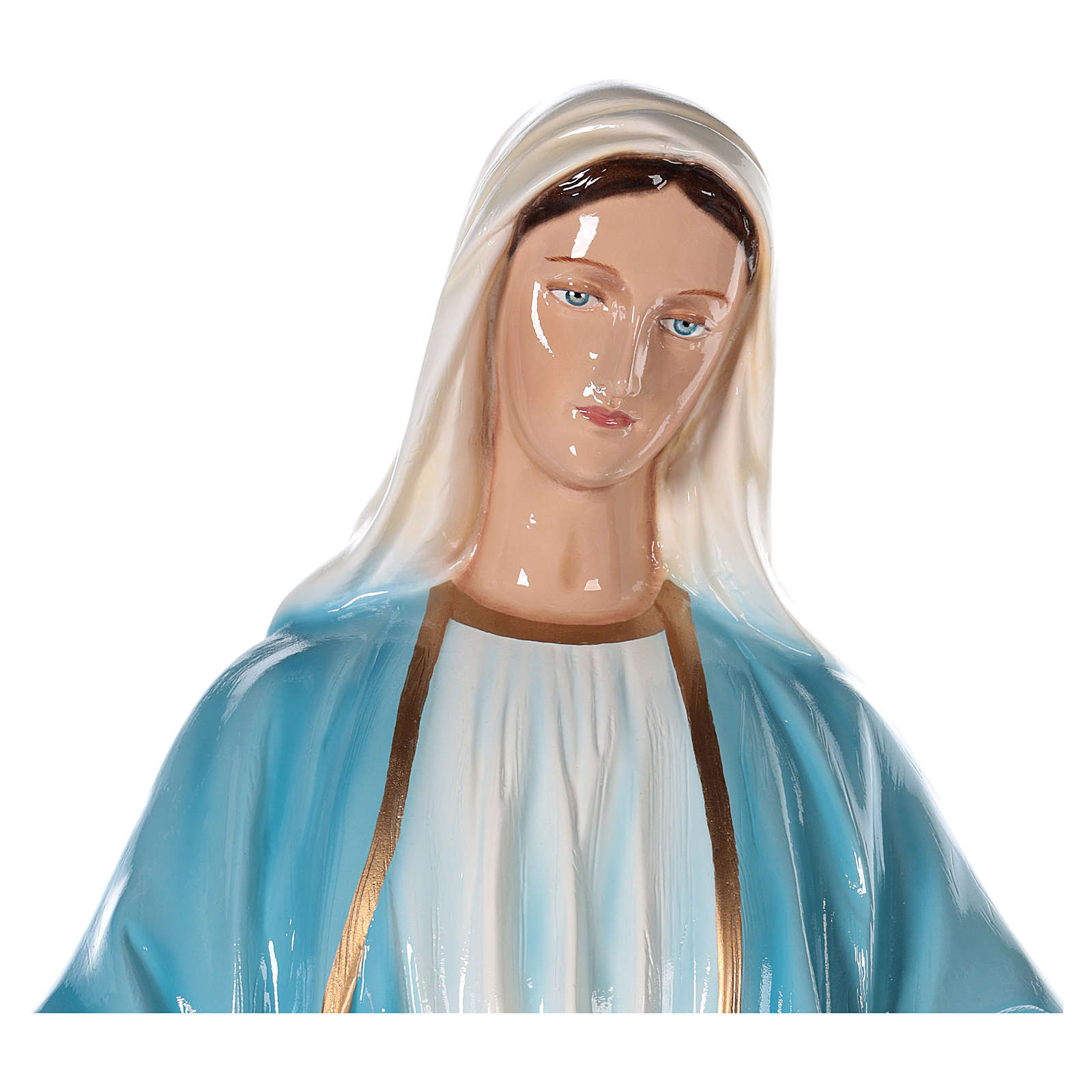 Estatua Virgen Inmaculada 100 cm fibra de vidrio pintada PARA EXTERIOR 4