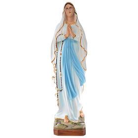 Statua Madonna di Lourdes 100 cm vetroresina dipinta PER ESTERNO s1