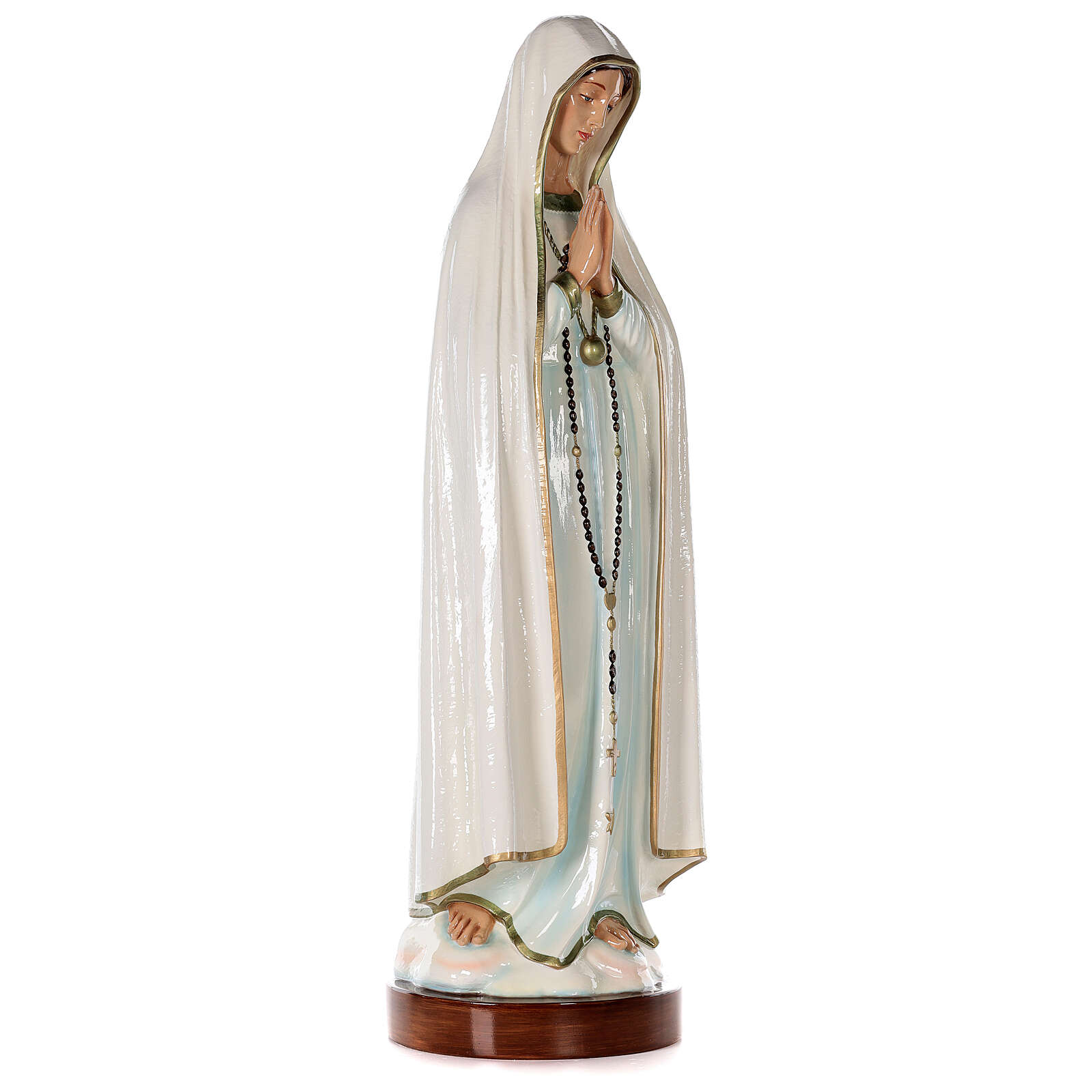 Madonna of Fatima Statue, 83 cm in painted fiberglass FOR OUTDOORS 4