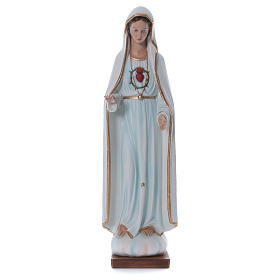 Estatua Virgen de Fátima 100 cm fibra de vidrio pintada PARA EXTERIOR s1