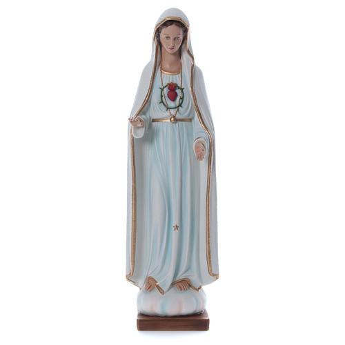 Estatua Virgen de Fátima 100 cm fibra de vidrio pintada PARA EXTERIOR 1
