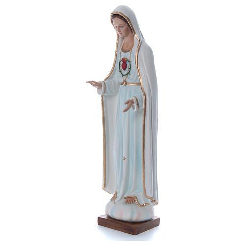 Estatua Virgen de Fátima 100 cm fibra de vidrio pintada PARA EXTERIOR 3