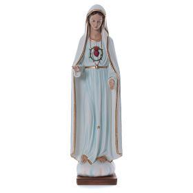 Statua Madonna di Fatima 100 cm vetroresina dipinta PER ESTERNO s1