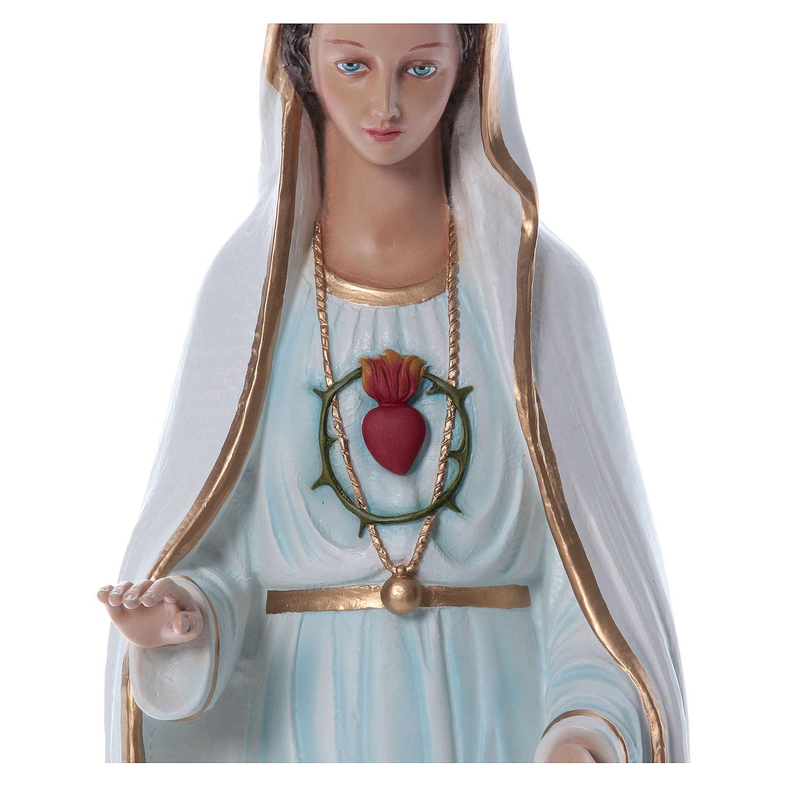Nossa Senhora Fátima 100 cm fibra vidro pintada detalhes dourados PARA EXTERIOR 4