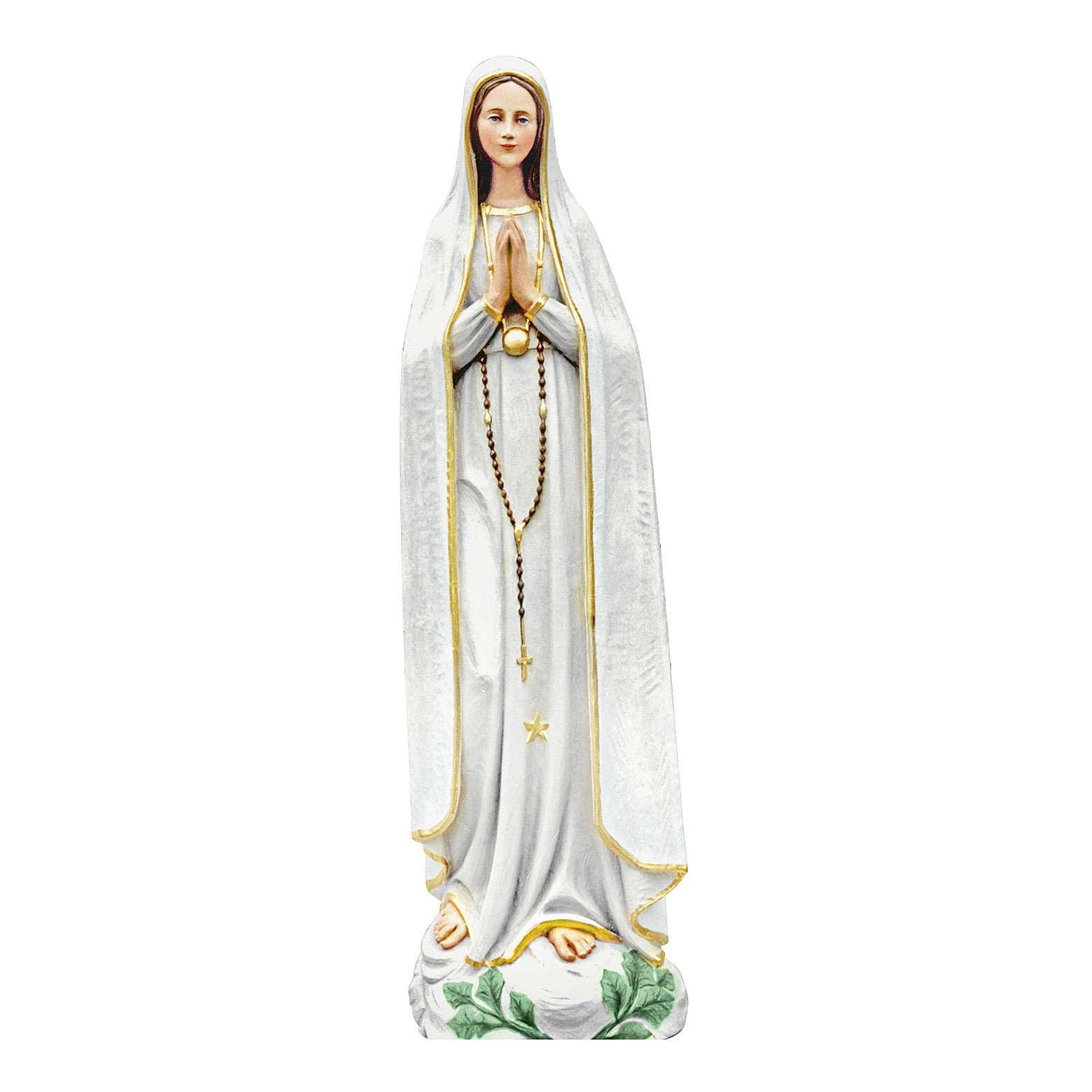 Statua Madonna di Fatima 100 cm in vetroresina colorata PER ESTERNO 4