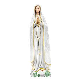 Statua Madonna di Fatima 100 cm in vetroresina colorata PER ESTERNO s1