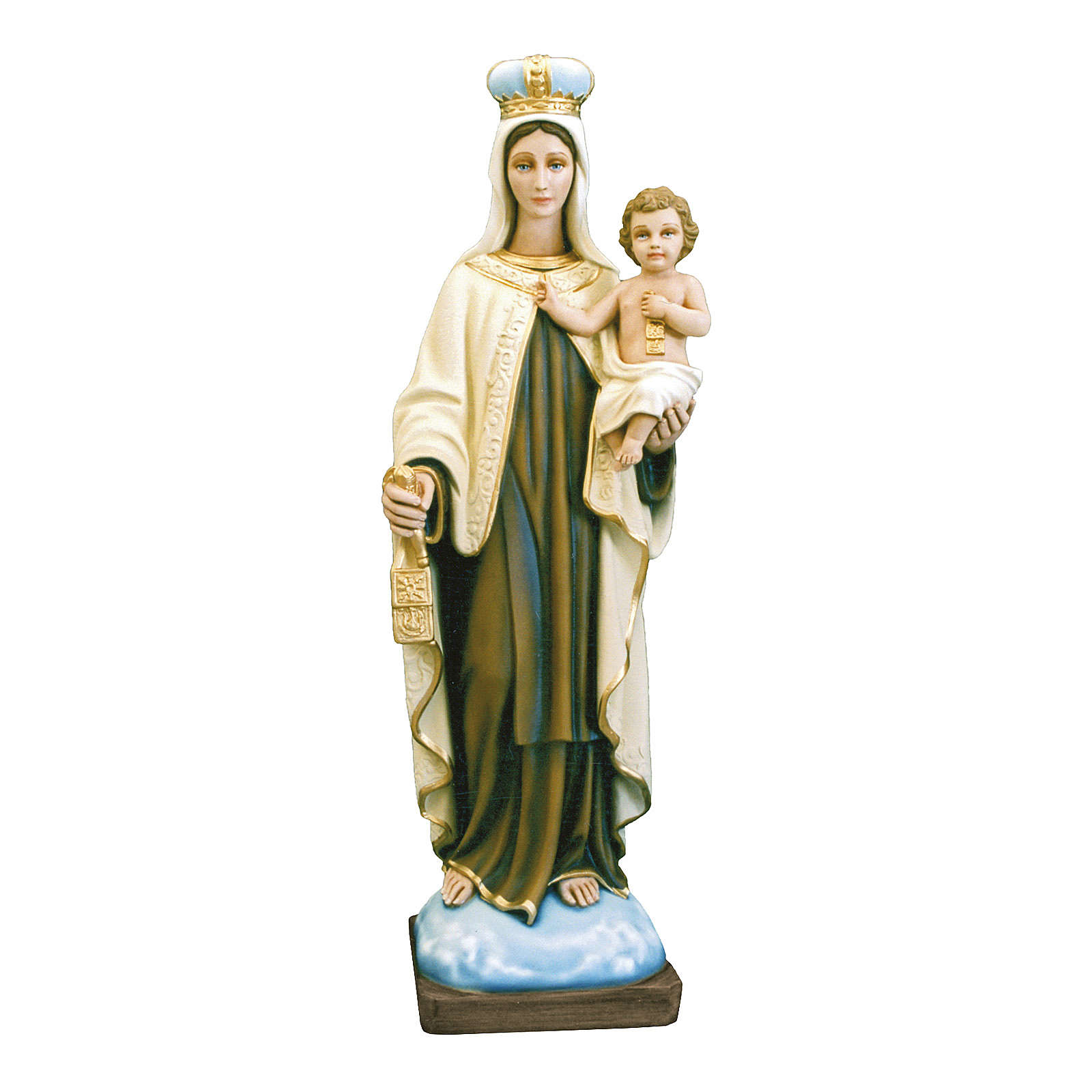 Imagen Virgen del Carmen 80 cm Fibra de Vidrio Pintada PARA EXTERIOR 4