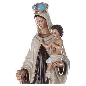 Statua Madonna del Carmelo 80 cm fiberglass dipinto PER ESTERNO s2